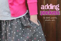 adding side pockets to anything (great for store bought clothes that need that extra pocket)