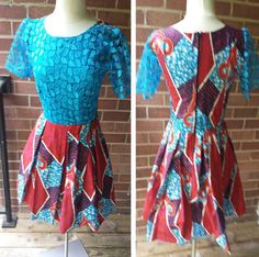 Creative Ankara and Lace Gown Style http://www.dezangozone.com/2016/06/creative-ankara-and-lace-gown-style.html