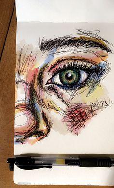 Art Drawings Sketches Simple, Pencil Art Drawings, Gcse Art Sketchbook, Sketching, Pen Art, Aesthetic Art, Cute Art, Art Inspo, Painting & Drawing