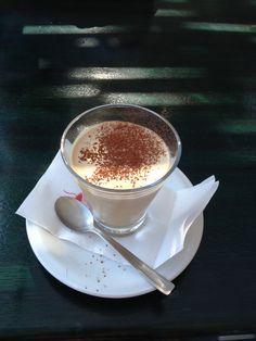 Crema di caffe especially on the beach in Italy