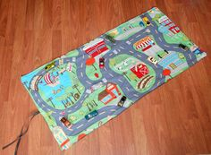 Portable Washable Fun Town Car Play Mat by dropsofdane on Etsy, $24.00