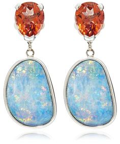 Silver topaz and opal drop earrings from the Stephen Dweck collection. Available at Liberty London.