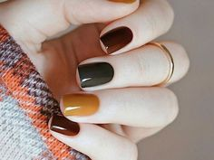 50 Stunning Short Nail Designs to Inspire Your Next Manicure in . - 50 Stunning Short Nail Designs to Inspire Your Next Manicure in Nail Designs Source by naildesigng. Fall Nail Art Designs, Short Nail Designs, Nails Design Autumn, Fall Nail Art Autumn, Autumn Makeup, Nails For Autumn, Fall Designs, Nail Design For Short Nails, Gel Polish Designs