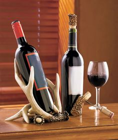 Rustic Antler Wine Accessories