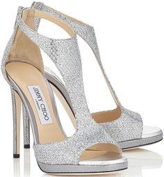 Champagne Silver Glitter Sandals