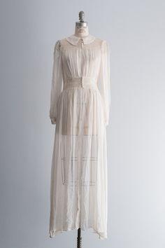 1930's White Chiffon Robe - S/M