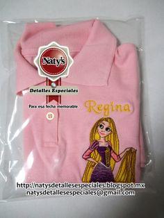 Playera personalizada con bordado Rapunzel
