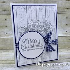 Today's project is a CASE (copy and share everything) of a card I received from Angie Lisk at our World Card Making Day event in Atlanta! This card features the Snowflake Sentiments and Wood Words stamp sets with the Pinewood Planks Dynamic Textured Impressions Embossing Folder. I just fell in love with Angie's card and…