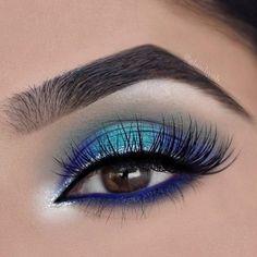 Gorgeous Makeup: Tips and Tricks With Eye Makeup and Eyeshadow – Makeup Design Ideas Makeup Eye Looks, Eye Makeup Art, Blue Eye Makeup, Eye Makeup Tips, Smokey Eye Makeup, Cute Makeup, Gorgeous Makeup, Eyeshadow Makeup, Pigment Eyeshadow