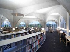 Hachioji Library, Tama Art University, opened 2007, designed by Toyo Ito, 2013 winner of the  Pritzker Architecture Prize, Tokyo, Japan