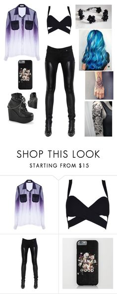 """Classy Goth girl "" by yourneighborchu ❤ liked on Polyvore featuring Demonia, WithChic and Givenchy"