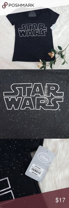 """NWT Disney Store Star Wars Galaxy Tee Brand new with tags! There is no better time to buy, either for yourself or your Star Wars loving friend, to wear with the recent release of The Last Jedi!   Approx. Measurements (laying flat): Length (shoulder to hem): 26.5"""" Pit to pit: 18"""" Disney Tops Tees - Short Sleeve"""