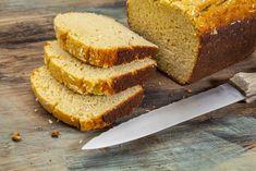 Coconut Flour Bread (no ap flour! #gf) [3/4 cup coconut flour, baking soda, 4 eggs, 3 eggs separated, 4tbs butter, coconut milk, honey]