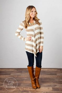 Fancy Frills Striped Cardigan! {Jane Deals}