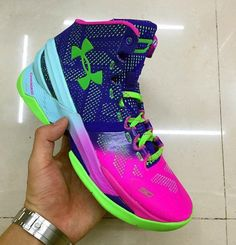 Mens Under Armour Curry Basketball Shoes Royal Blue White Yellow Size M US 95eec32824fd