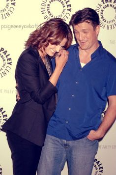 Nathan Fillian and Stana Katic at the Paley Center