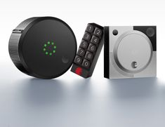 The August Smart Home Access System gives you more control over who accesses your front door -- lock and unlock your door, create virtual keys for guests, and know who comes and goes, all from your smartphone. Front Door Locks, Smart Door Locks, August Home, August Smart Lock, Front Door Handles, Smart Home Security, Smart Home Technology, Apple Tv, Remote