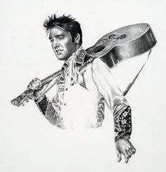 Painting of Elvis Presley  By Betty Harper