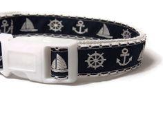 Dog Collar  Navy Blue Sailor Collar  by FuzzyPawCreations, $13.26
