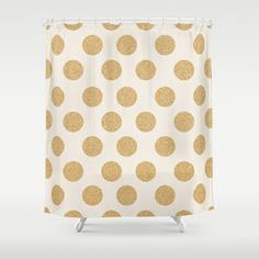 Wonderful Glittering Gold Dots Shower Curtain By Allyson Johnson   $68.00