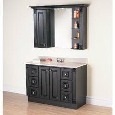 Magickwoods bathroom vanities - Single Bathroom Vanities Sets Doors Open Vanities Ensemble Dark