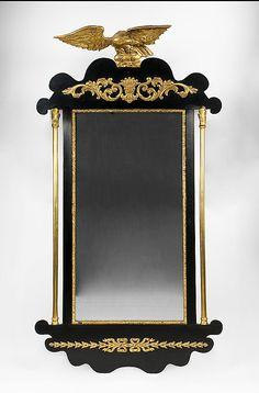 19th C. French Empire Parcel Gilt Mirror