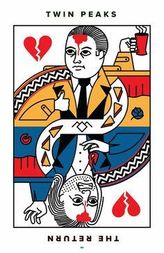 Twin Peaks playcard by Mike Rubino