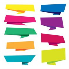 Colorful origami banner collection Free Vector -  #Banner #Collection #Colorful #downloads #free #images #origami #photos #pictures #vectors