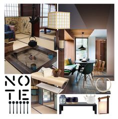 """""""Japanese Tea (Top Set)"""" by sue-mes ❤ liked on Polyvore featuring interior, interiors, interior design, home, home decor, interior decorating, Kartell, Pols Potten, Tokyo Design Studio and canvas"""