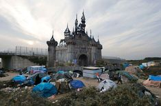 """Banksy posted this image for """"Dismaland Calais"""" on the Dismaland website."""