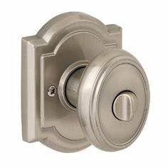 Baldwin 353CYK ARB 15 Carnaby Bed/Bath Knob, Satin Nickel by Baldwin. Save 20 Off!. $34.44. From the Manufacturer                Baldwin has a 60 year legacy of craftsmanship and innovation. Rated #1 in quality by builders and contractors, Baldwin is pleased to offer a line of luxury hardware for the discriminating consumer: our Prestige Series. Feel the difference--Baldwin hardware is solid throughout. With a 60 year legacy of superior style and quality, Baldwin is the choice f...