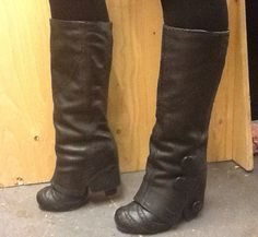 Spatz Leather Knee High Boots
