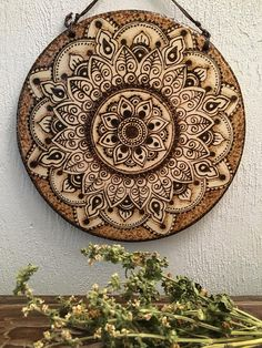 Woodburned Mandala