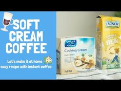 HAMA's Cafe - How to make cream coffee - Two kinds of coffee banana coffee einspanner Cream Coffee * recipe * - cream cooking cream - + sugar . Banana Coffee, Banana Milk, Espresso Recipes, Coffee Recipes, How To Make Cream, Cooking Cream, Chef's Choice, Cafe Style, Instant Coffee