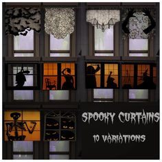 Sims 4 CC's - The Best: Halloween Curtains, Paintings, Lighting and Decor ...