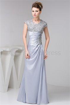 Elegant Portrait Sheath/ Column Pleats Silk-like Satin Date Dresses