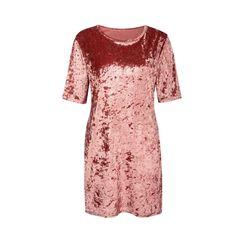 15.96$  Buy here - http://ai8k1.worlditems.win/all/product.php?id=G8111P-L - New Fashion Women Crushed Velvet Mini Dress Casual Shiny Long Top T-Shirt Shift Party Dress