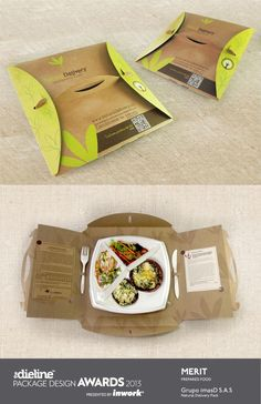 The Dieline Package Design Awards 2013: Prepared Food Merit  Natural Delivery  - Delivery Food - Ideas of Delivery Food #deliveryfood #food #delivery -   The Dieline Package Design Awards 2013: Prepared Food Merit  Natural Delivery Pack. Para llevar?