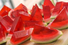 Planning a party this summer?  Try this new way of serving your guests alcohol, with watermelon jello shots!