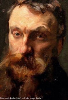 """Auguste Rodin (French sculptor 1840-1917), by John Singer Sargent (1856-1925). Signed """"A mon ami Rodin, John Sargent 1884"""" Musee Rodin, Paris. Oil on canvas."""