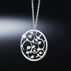 Newbridge Silverware Jewellery - Bloom Pendant Was Now Rosalie, Silverware Jewelry, Round Pendant, Washer Necklace, Bloom, Chain, My Style, Ireland, Accessories