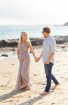 Lavender Laguna Beach Maternity Session - Inspired By This
