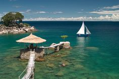The view from Kaya Mawa Lodge on Lake Malawi