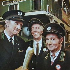 """On the Buses"": the TV series starring Stephen Lewis as the Inspector, Bob Grant as Jack and Reg Varney as Stan Butler. The series spawned three theatrical feature films from Hammer Productions in the with the same cast British Sitcoms, British Comedy, English Comedy, British Humor, 1970s Childhood, My Childhood Memories, Radios, Match Of The Day, Tv Show Casting"