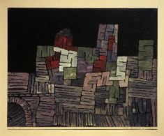 Paul Klee - Altes Gemaeuer, Sizilien, 1924.