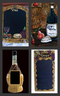 """GALLERY"" - Wine Chalkboards Decorative Custom Kitchen Chalkboards BLOG http://zeezeechalkboards.blogspot.ca"