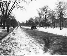 Snowy University Avenue 1908 Many many chages sice this photo wa taken