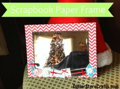 Use Scrapbook paper & stickers to decorate a dollar store frame