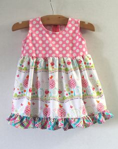 Baby Dress and Bloomers 3 Months Baby Animal Friends by MyLilBaby