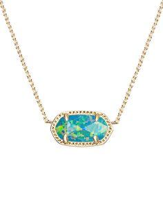 Elisa Pendant Necklace in Marine Kyocera Opal - Kendra Scott Jewelry.